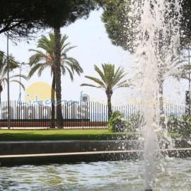 Fontaine d'eau dans le parc dels pescadors