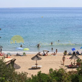 Vue panoramique Playa Larga ou Del Estany Gelat