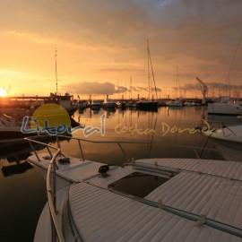 coucher de soleil au port de Cambrils