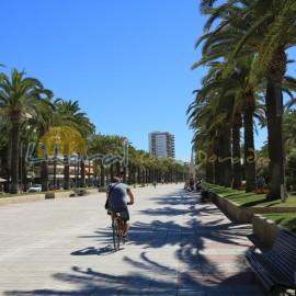 Promenade à Salou pres de La Pineda